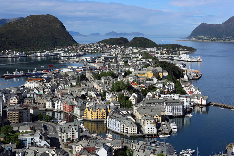 Download Alesund editorial photography. Image of city, cloud, clear - 25587767