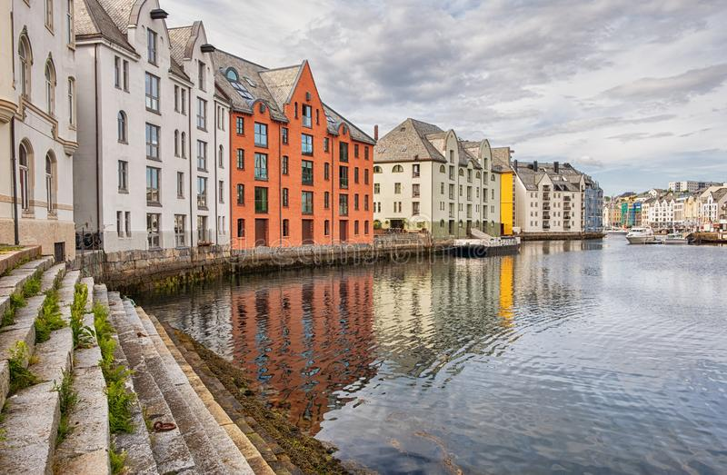 Alesund city in Norway. royalty free stock photography