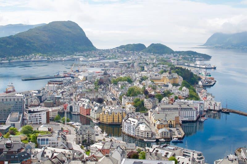 Alesund en Noruega fotografía de archivo libre de regalías