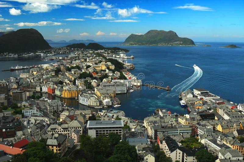 Alesund, Noorwegen royalty-vrije stock foto