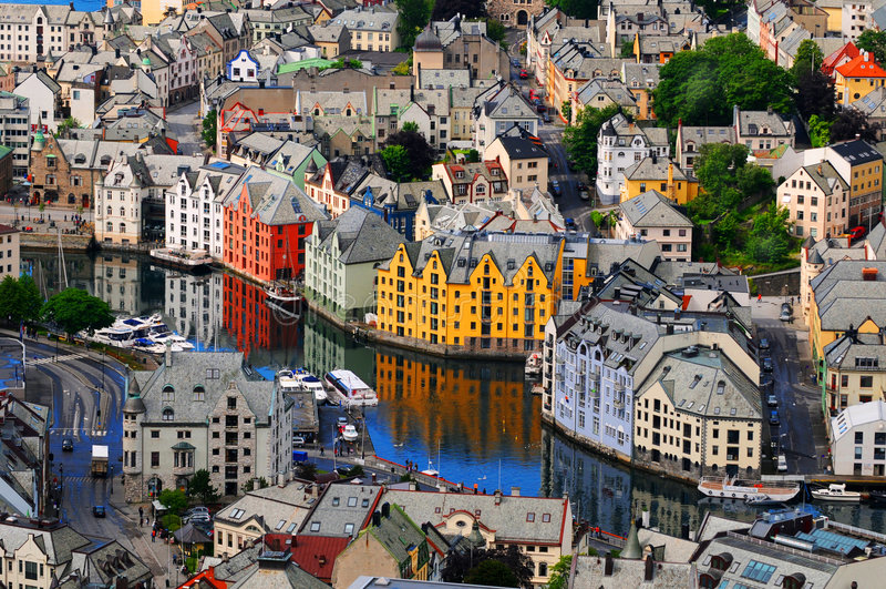 Alesund, Norvège photographie stock libre de droits