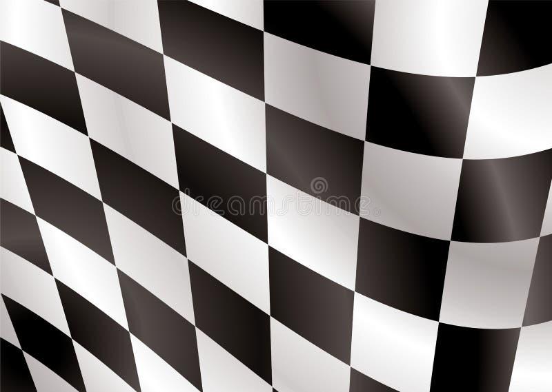 Aleta de bandeira Checkered ilustração do vetor