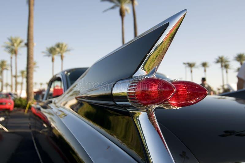 Aleta de cauda retro clássica do carro do cromo dos anos 50 foto de stock royalty free
