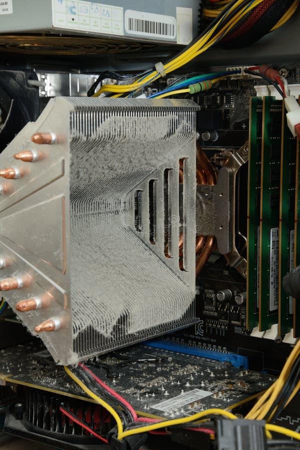 Aleta de Dusty Cooling de la CPU foto de archivo