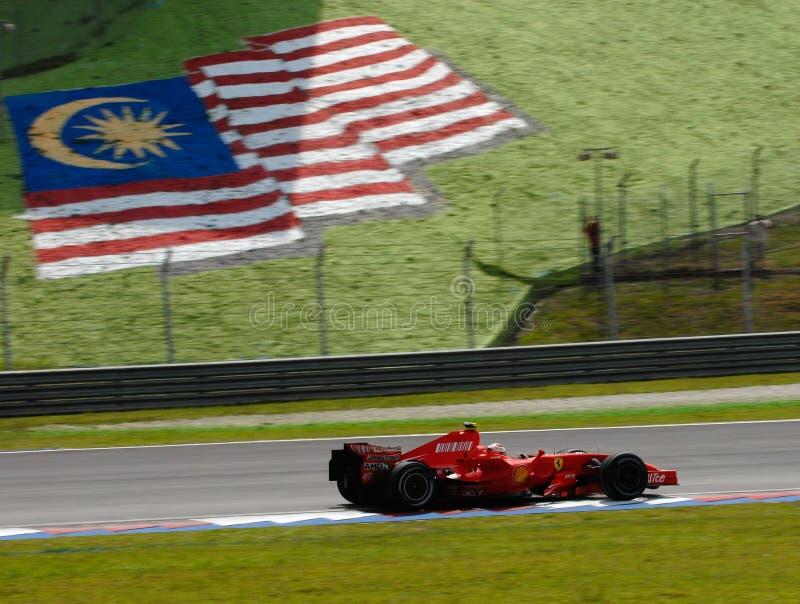 Aleta de Scuderia Ferrari Marlboro F2007 Kimi Raikkonen imagens de stock royalty free