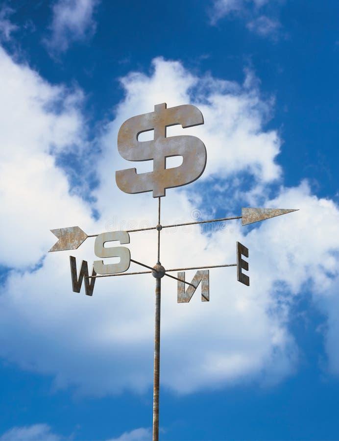 Aleta de tempo e céu azul fotografia de stock royalty free
