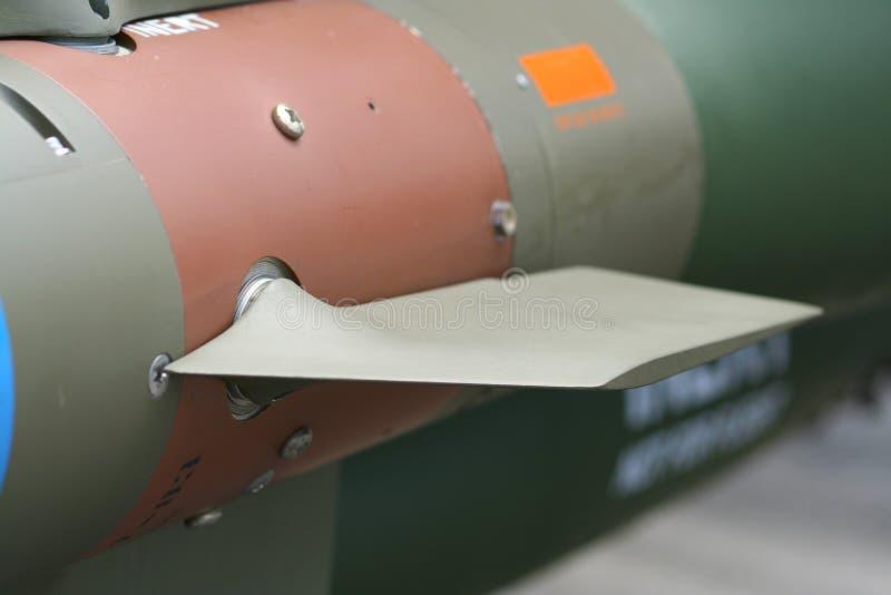 Aleta del misil fotos de archivo