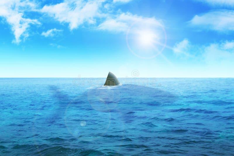 Aleta do tubarão ilustração do vetor