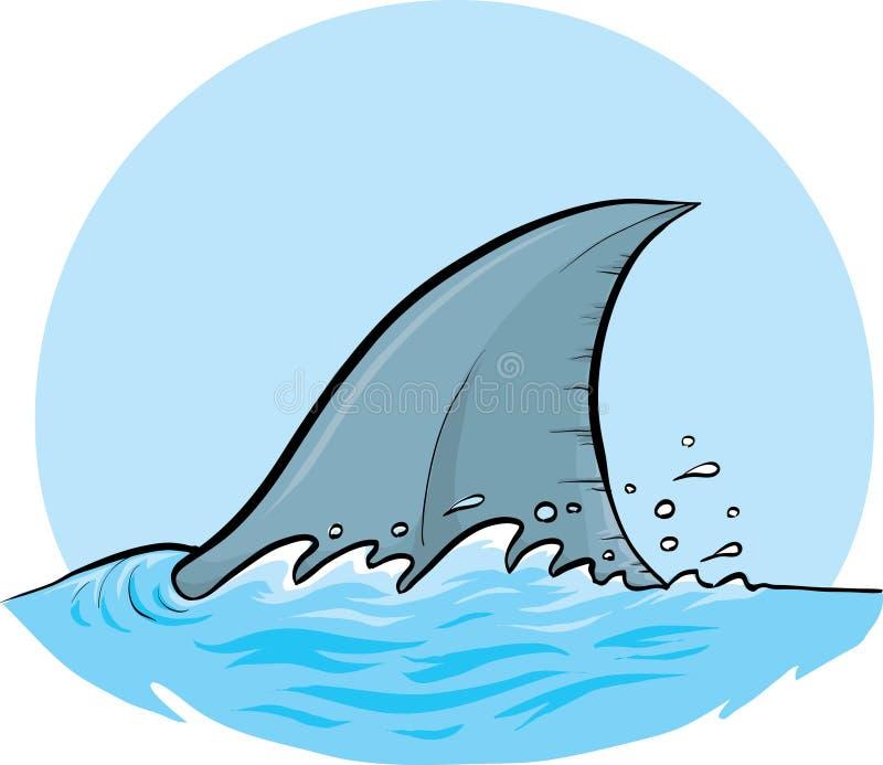 Aleta dorsal do tubarão ilustração do vetor