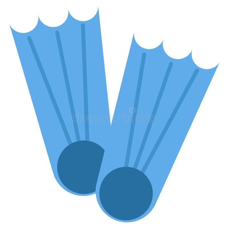 Aletas ícone da natação, ilustração do vetor ilustração do vetor