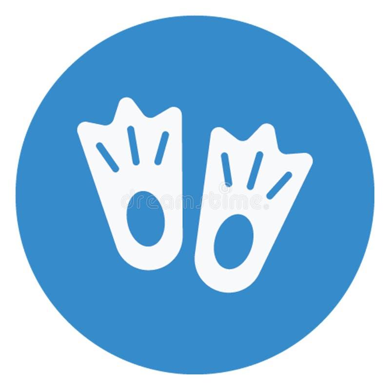 Aletas, ícone do vetor dos calçados que pode facilmente editar ilustração royalty free