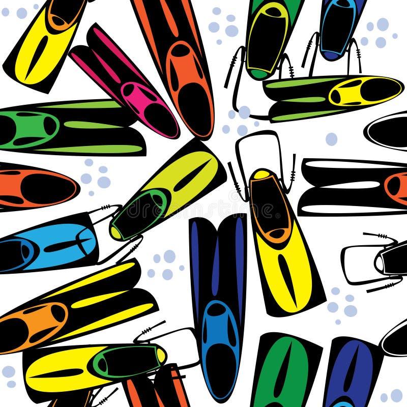 Aletas multicoloridos do teste padrão sem emenda ilustração stock