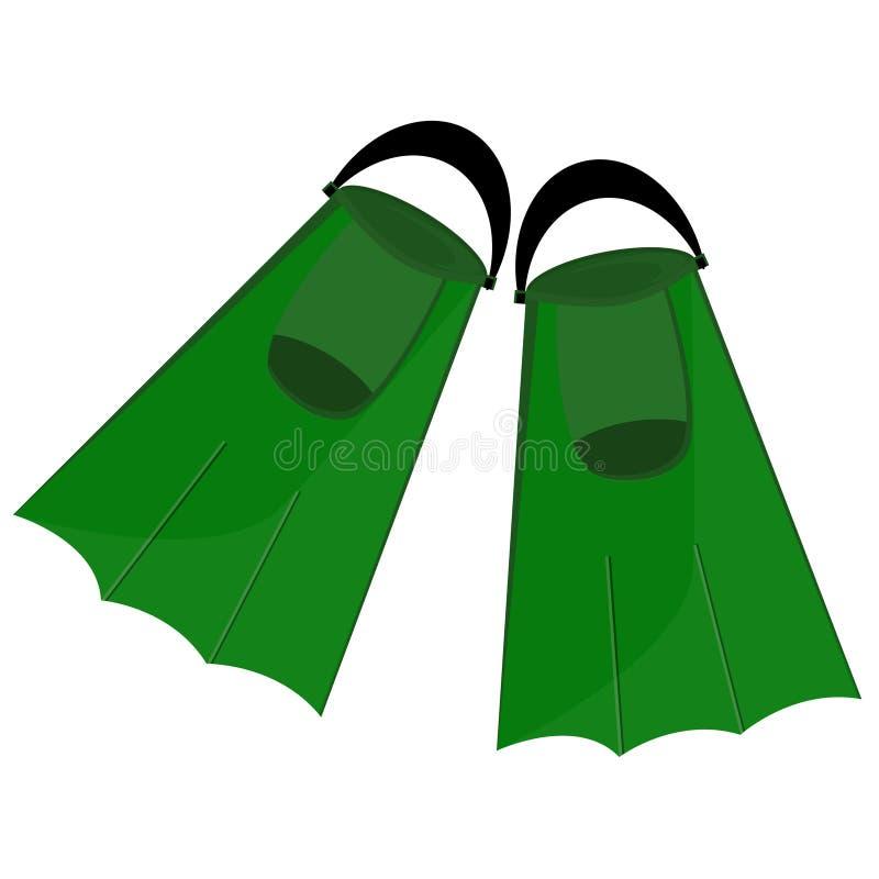 Aletas verdes ilustração do vetor