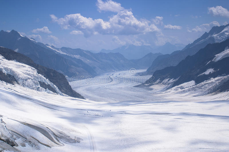 Aletsch冰川 免版税库存图片