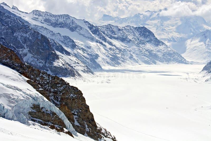 aletsch μεγάλο jungfrau Ελβετία παγε& στοκ εικόνες με δικαίωμα ελεύθερης χρήσης
