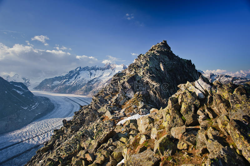 Download Aletsch Glacier With Bettmerhorn Stock Photography - Image: 15198882