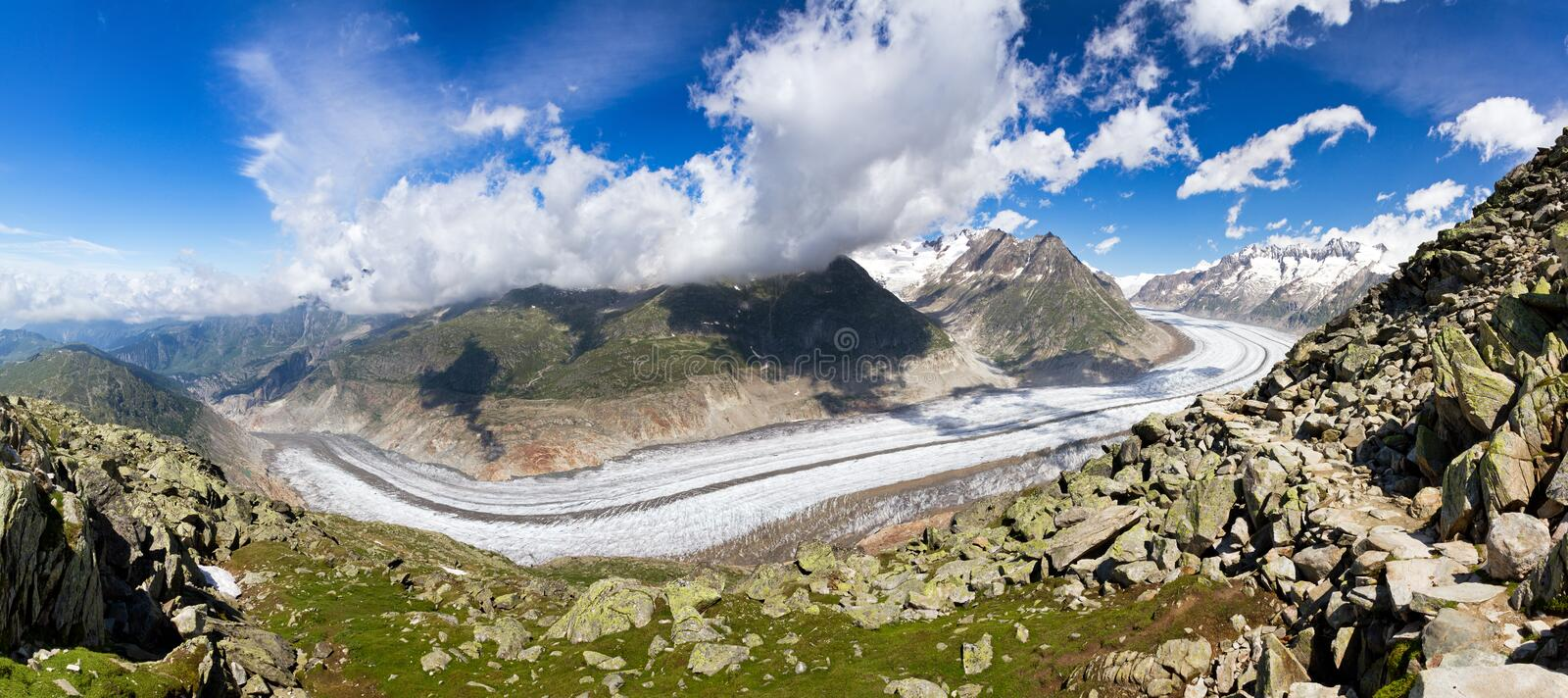 Aletsch glacier in summer