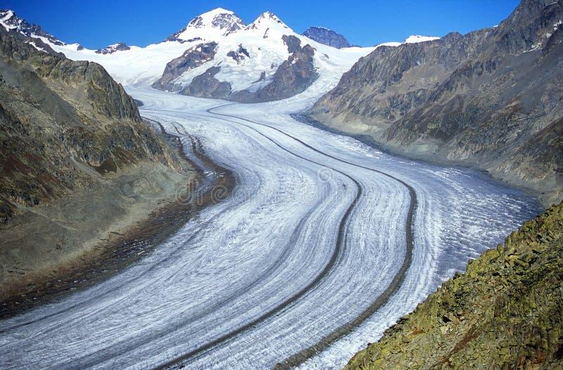 aletsch lodowiec zdjęcia stock