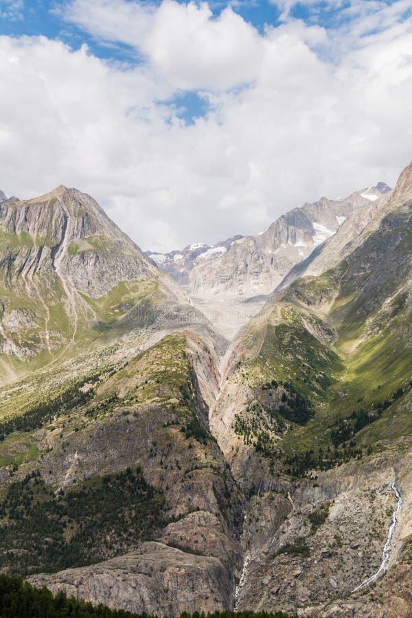 Aletschbergen stock foto's
