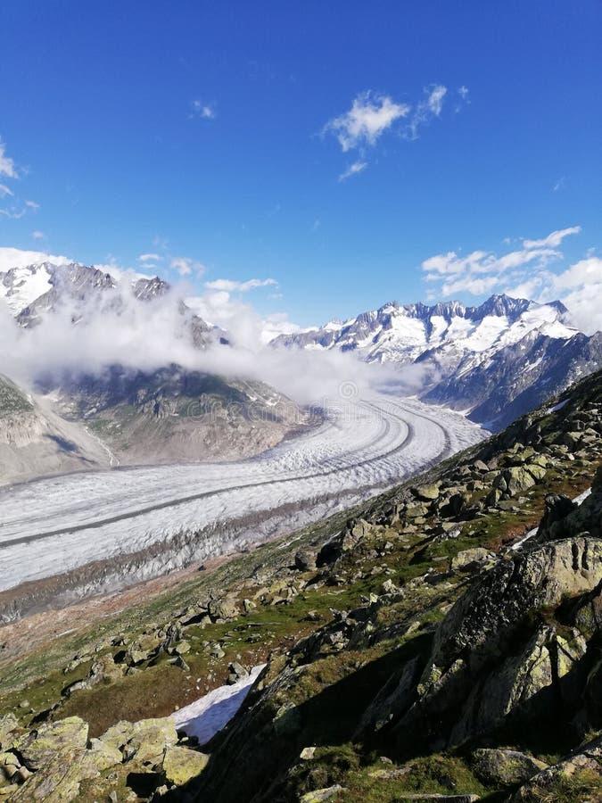 Aletschgletscher arkivbilder