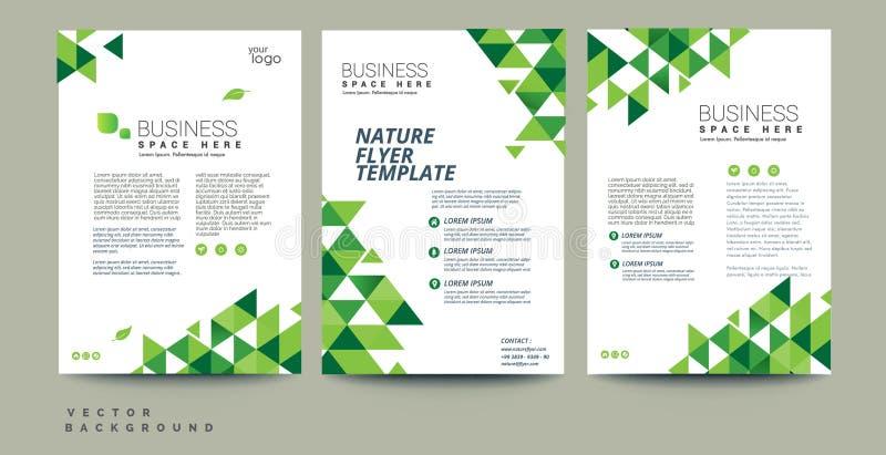 Aletta di filatoio astratta di eco di vettore, manifesto, opuscolo, modello di copertura della rivista illustrazione di stock