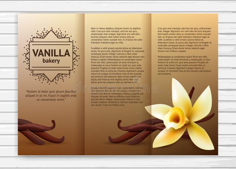 Aletta di filatoio del forno della vaniglia royalty illustrazione gratis