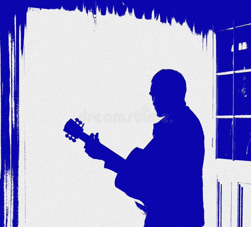 Aletta di filatoio del manifesto di musica della chitarra di Grunge immagini stock libere da diritti