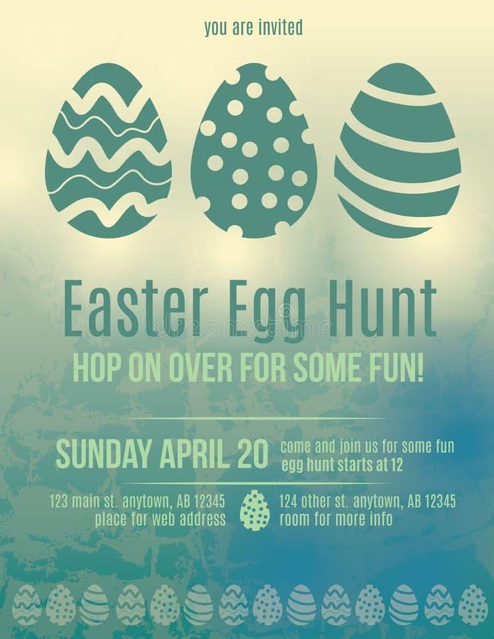 Aletta di filatoio dell'invito di caccia dell'uovo di Pasqua illustrazione di stock