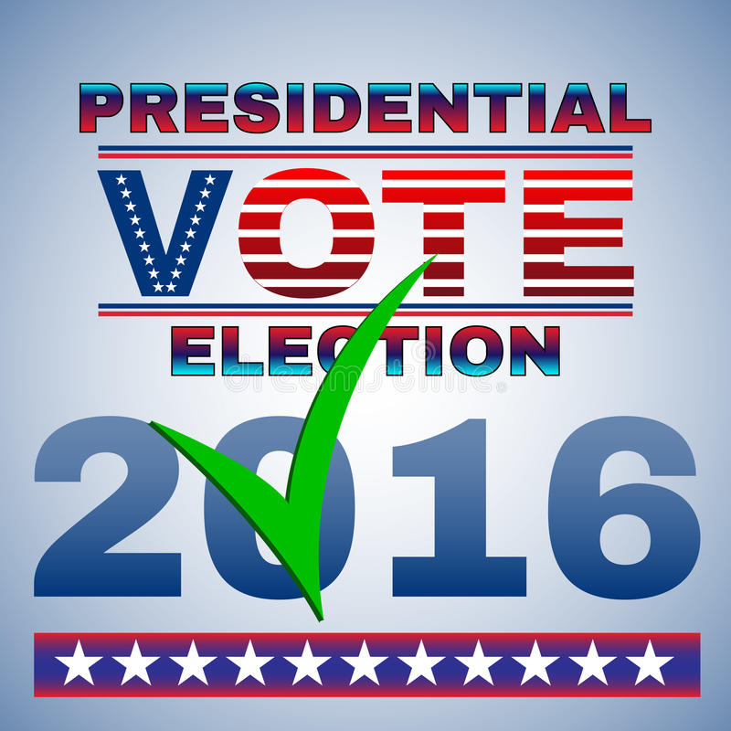 Aletta di filatoio di elezione di voto presidenziale illustrazione di stock