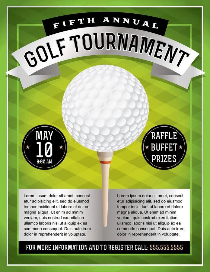 Aletta di filatoio di torneo di golf royalty illustrazione gratis