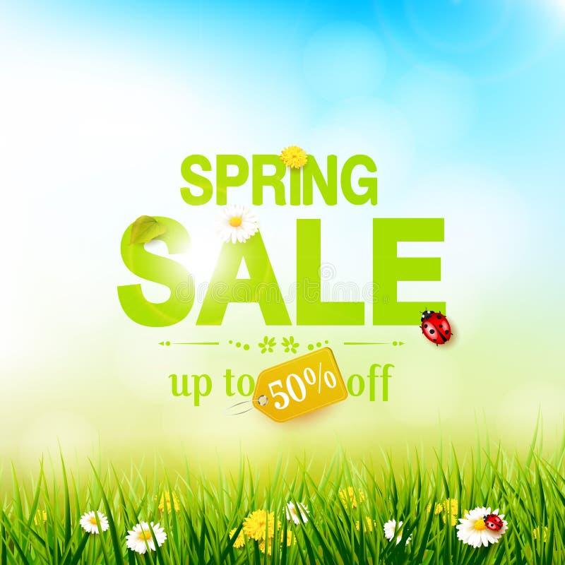 Aletta di filatoio di vendita della primavera illustrazione di stock