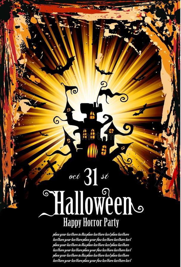 Aletta di filatoio indicativa di stile di Halloween Grunge illustrazione di stock