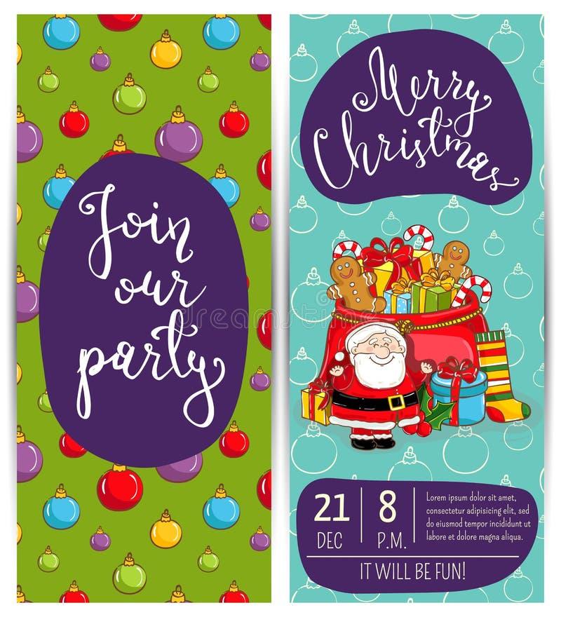 Aletta di filatoio luminosa di promozione per la festa di Natale del club illustrazione di stock