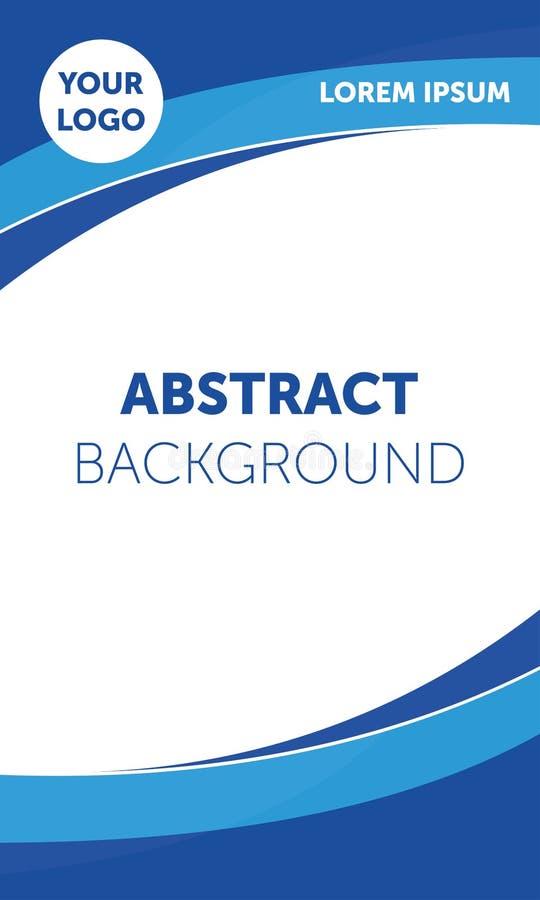 Aletta di filatoio, opuscolo, manifesto, modello di copertura della rivista Progettazione corporativa blu moderna illustrazione di stock