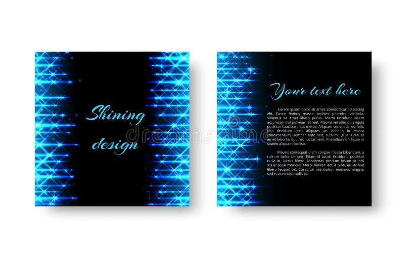Aletta di filatoio quadrata con luce al neon illustrazione vettoriale