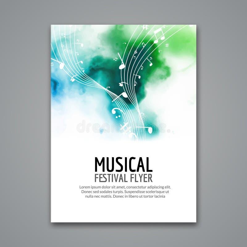 Aletta di filatoio variopinta del modello di concerto di festival di musica di vettore Manifesto musicale di progettazione dell'a royalty illustrazione gratis