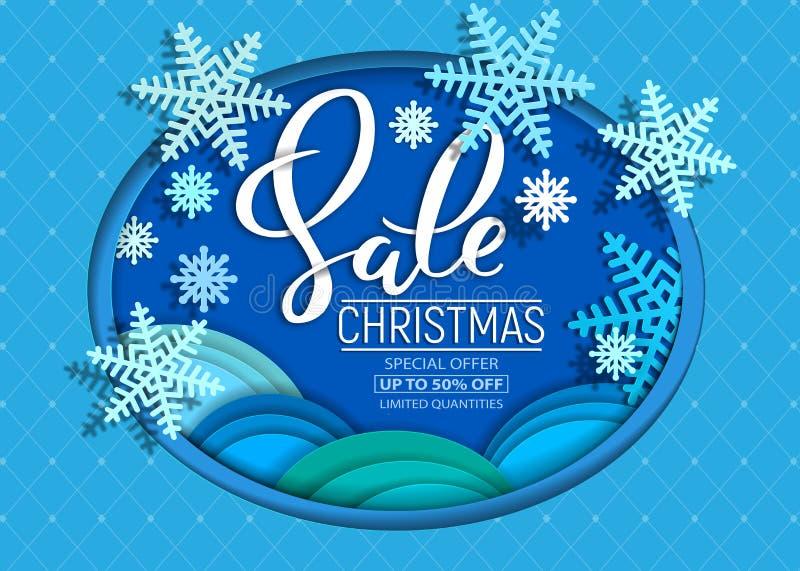 Aletta di filatoio di vendita di Natale dagli strati di carta tagliata royalty illustrazione gratis