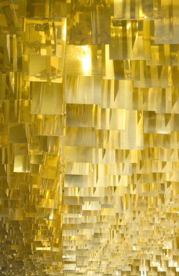 Alette del metallo dell'oro immagine stock