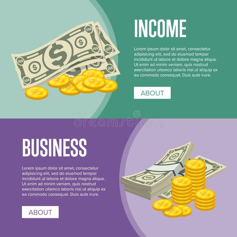 Alette di filatoio di reddito nominale e di successo di affari royalty illustrazione gratis