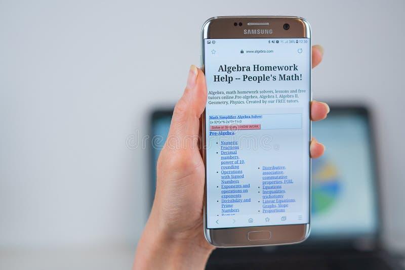aleut ιστοχώρος COM που ανοίγουν στον κινητό στοκ φωτογραφία με δικαίωμα ελεύθερης χρήσης