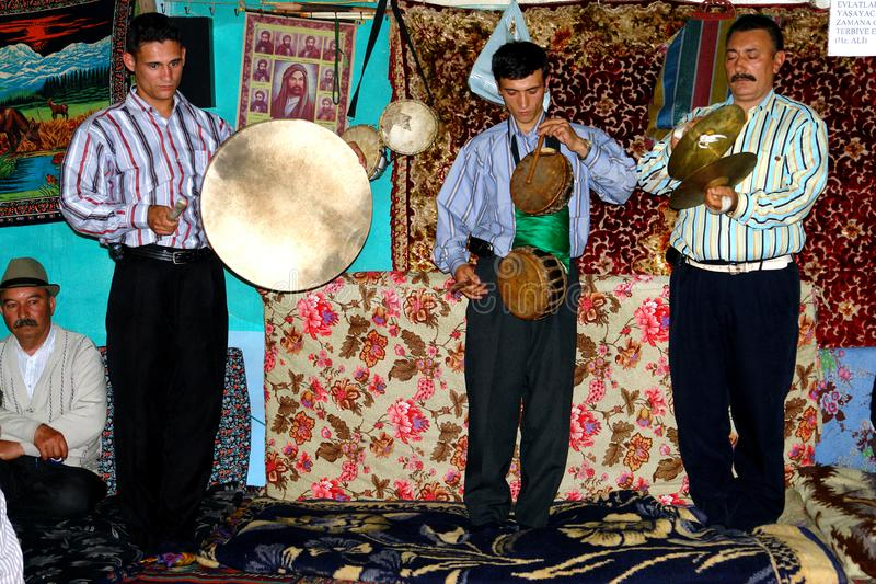 Alevi musicians in Turkey stock photography