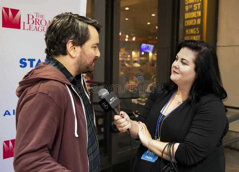 Alex Brightman at 2019  Stars in the Alley stock photo