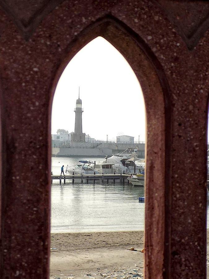 Alex Lighthouse royaltyfria bilder