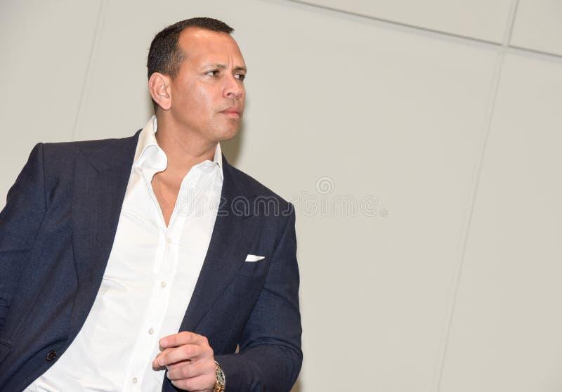 Alex Rodriguez, a-Staaf, de vroegere professionele kampioen van de honkbalwereld stock afbeelding