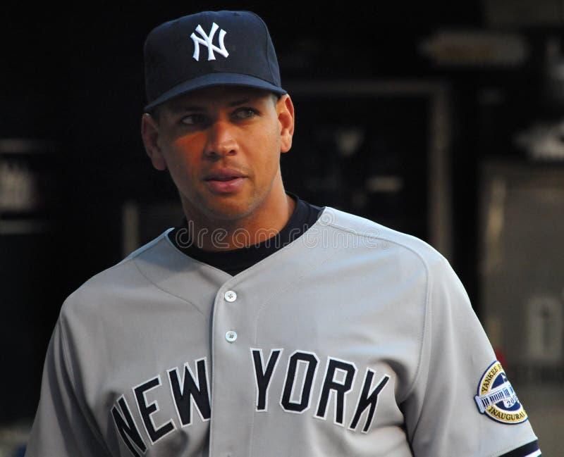 Alex Rodriguez, yankee di New York fotografie stock