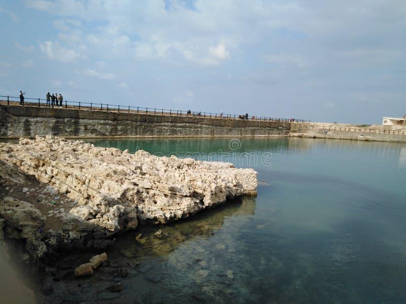 Alex sea bridge. Amazing shot of Alex sea Egypt royalty free stock photos