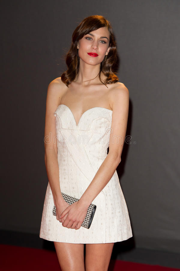 Alexa Chung. Arrives for the British Fashion Awards 2013 at the Colliseum, St.Martin's Lane, London. 02/12/2013 Picture by: Dave Norton / Featureflash stock photography