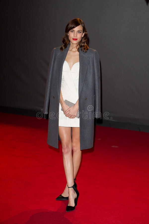 Alexa Chung. Arrives for the British Fashion Awards 2013 at the Colliseum, St.Martin's Lane, London. 02/12/2013 Picture by: Dave Norton / Featureflash royalty free stock photography