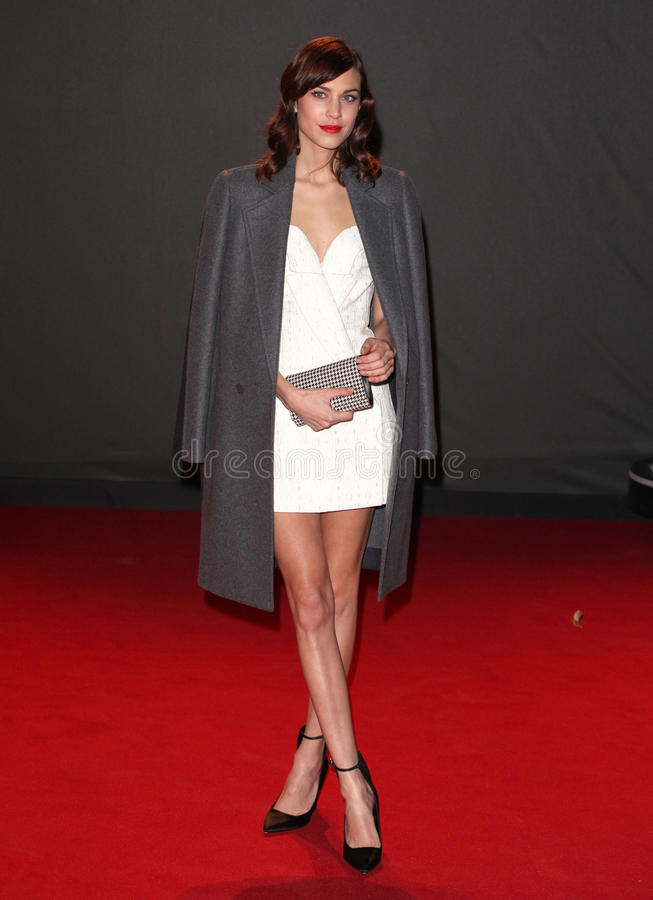 Alexa Chung. Arriving for the 2013 British Fashion Awards, at The London Coliseum, London. 02/12/2013 Picture by: Alexandra Glen / Featureflash royalty free stock photography