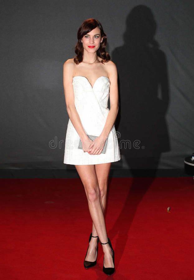 Alexa Chung. Arriving for the 2013 British Fashion Awards, at The London Coliseum, London. 02/12/2013 Picture by: Alexandra Glen / Featureflash stock photo